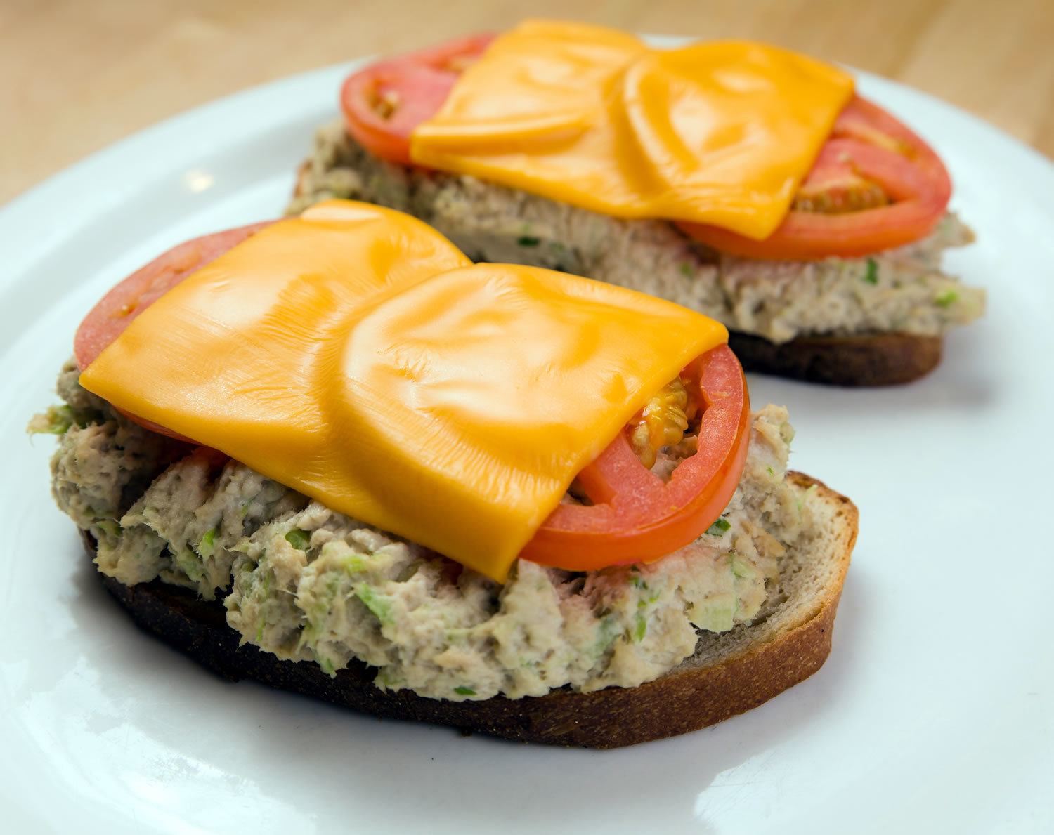 Open face Tuna Melt