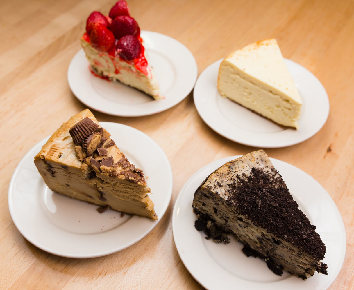 Four varieties of cheescake!