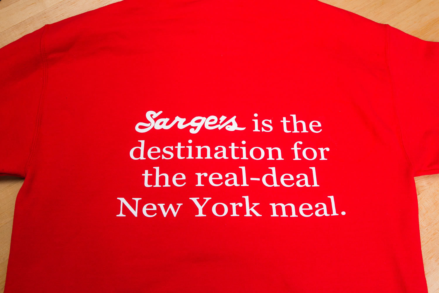 Sarge's is the destination for the real-deal New York meal!