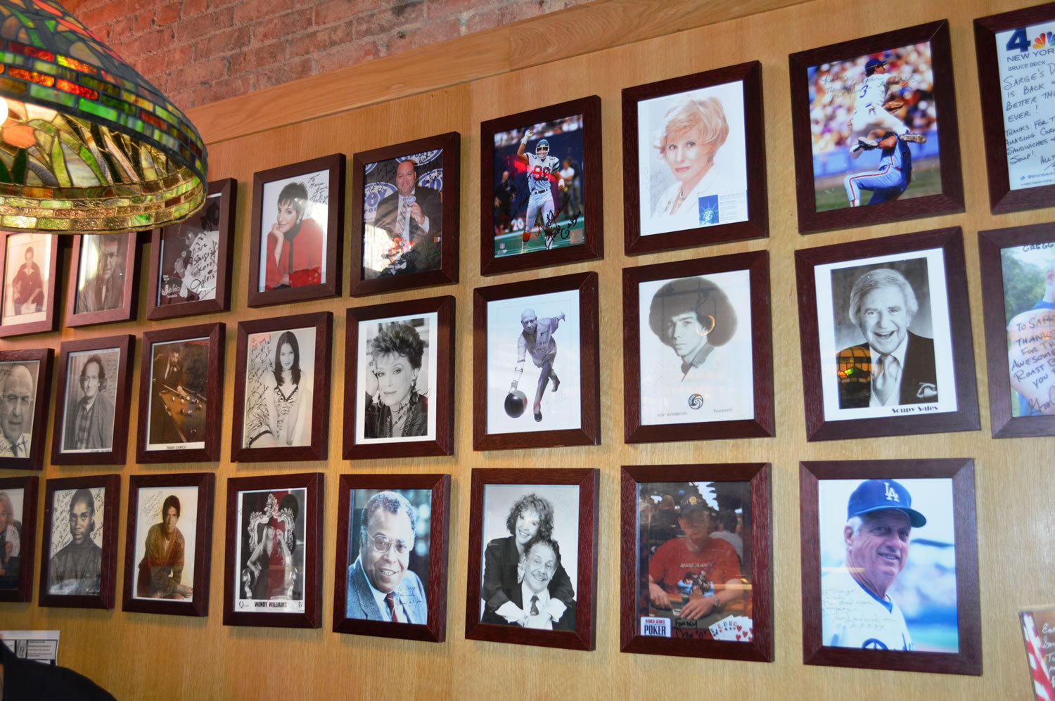 "Sarge's ""Wall of Celebrities"""